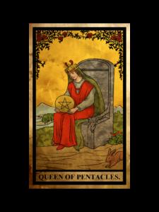 ペンタクルス(金貨)のクイーン(女王)