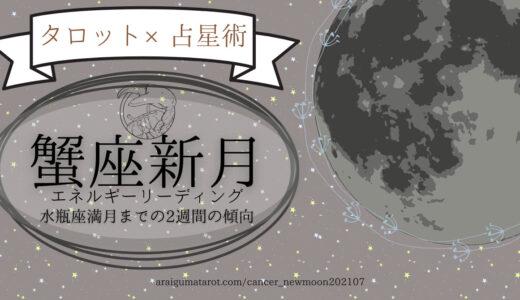 2021年7月10日(土)蟹座新月のエネルギーについてホロスコープ+タロットカードで細密に読んでみた【水瓶座満月までの過ごし方のヒント】